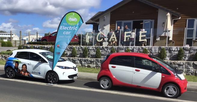 EVs at cafe